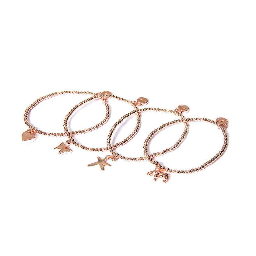 Envy - Multi strand rose gold symbols bracelet