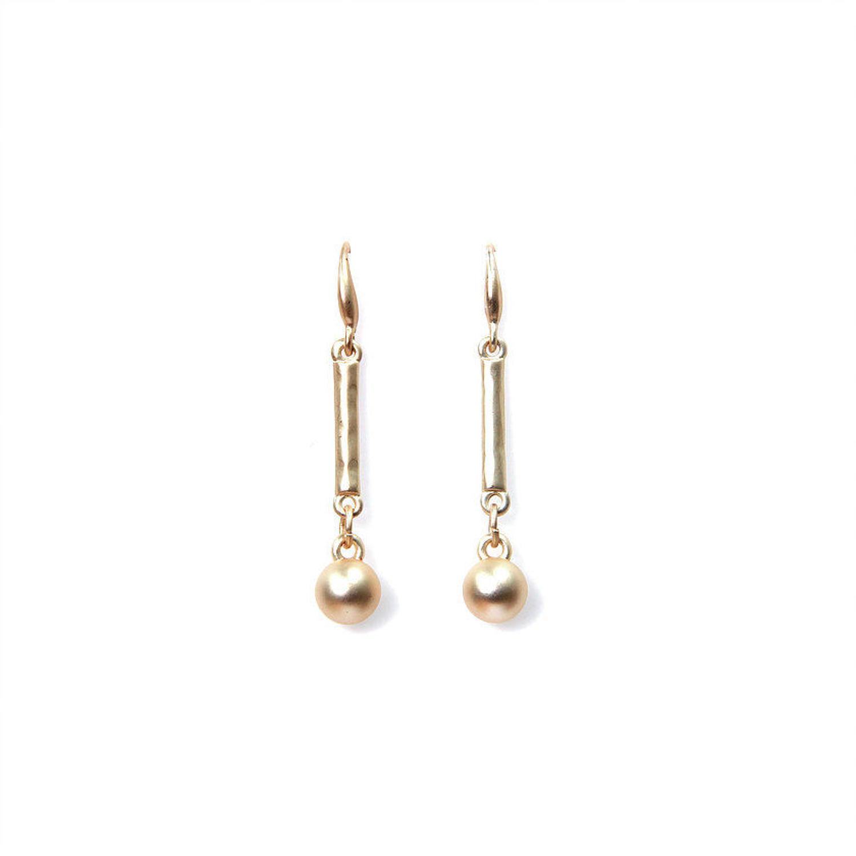 Envy - Gold stem and ball earrings