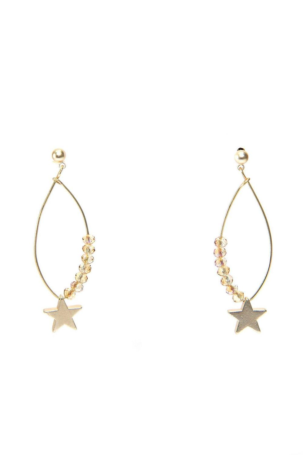 Envy - Gold Star and gems earring