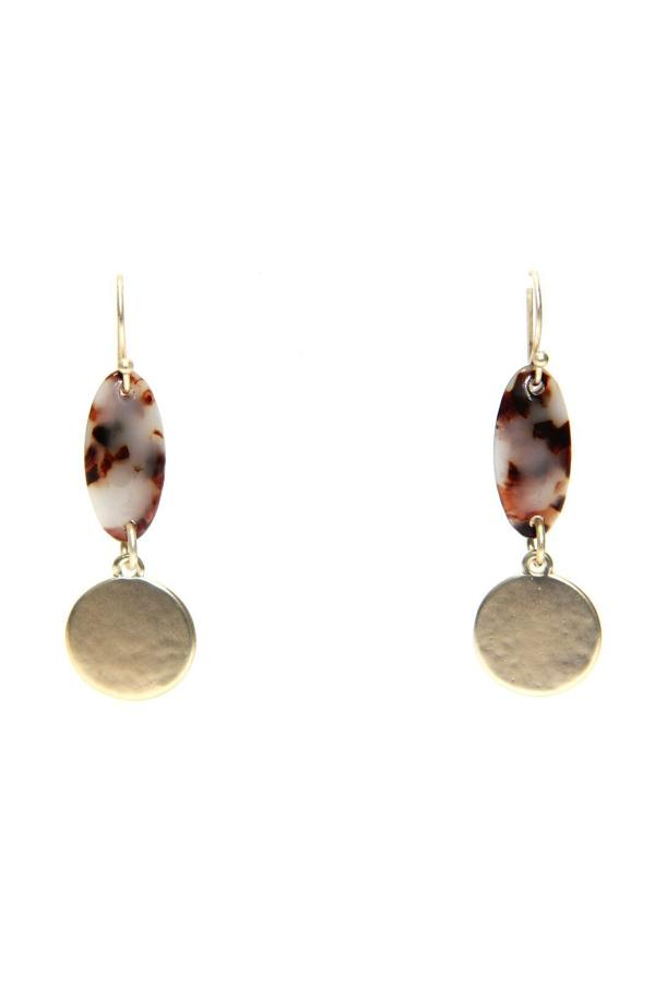 Envy - Gold marble earrings