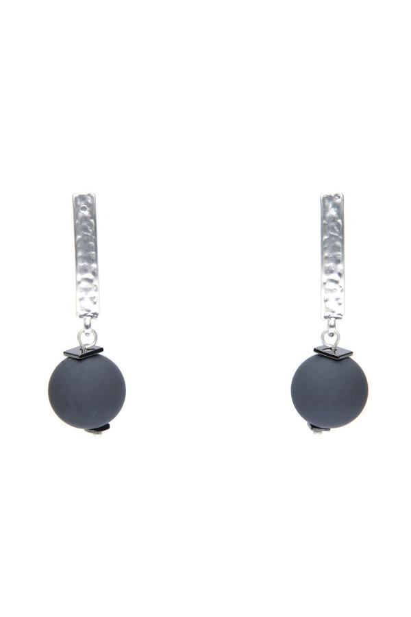 Envy - Silver ball earrings