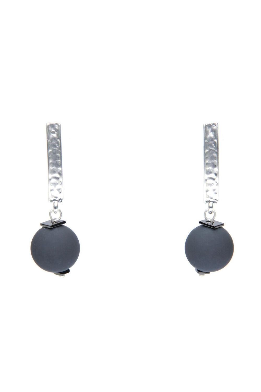 Envy - Silver ball earrings
