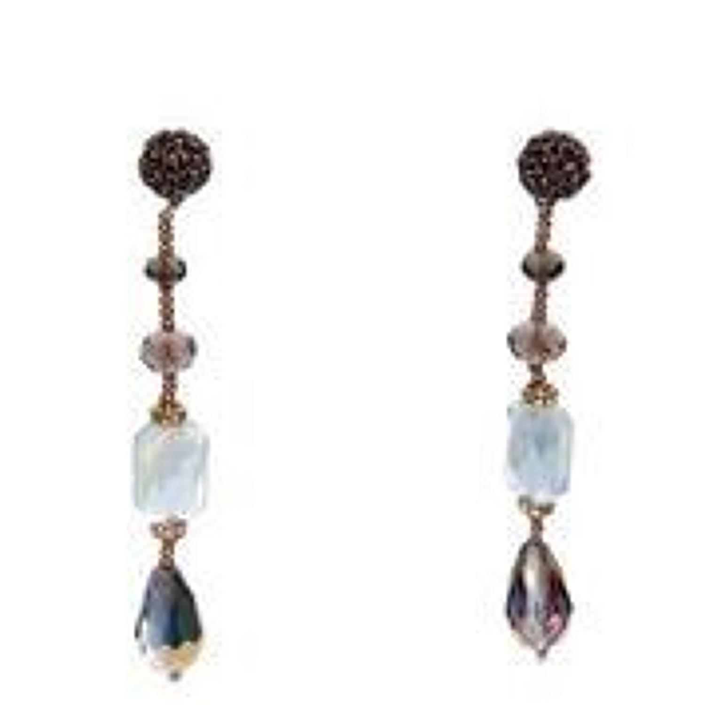 Envy - Grey gem drop earrings