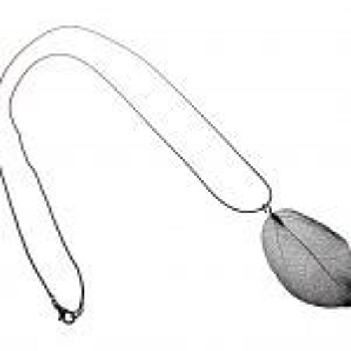 J & L- Long silver plated leaf filgree necklace - Silver