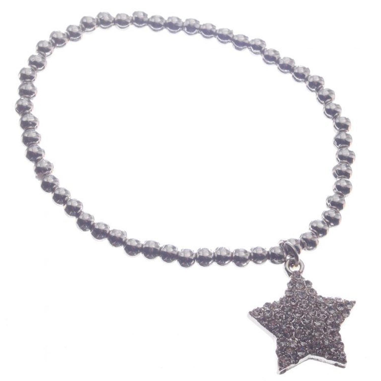 J & L - Pearl bracelet with drop diamante star