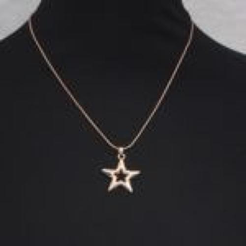 J & L - Short necklace with rose gold star pendant