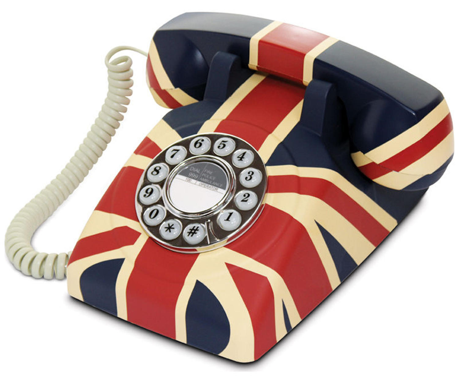 Union flag phone in a rubberised finish