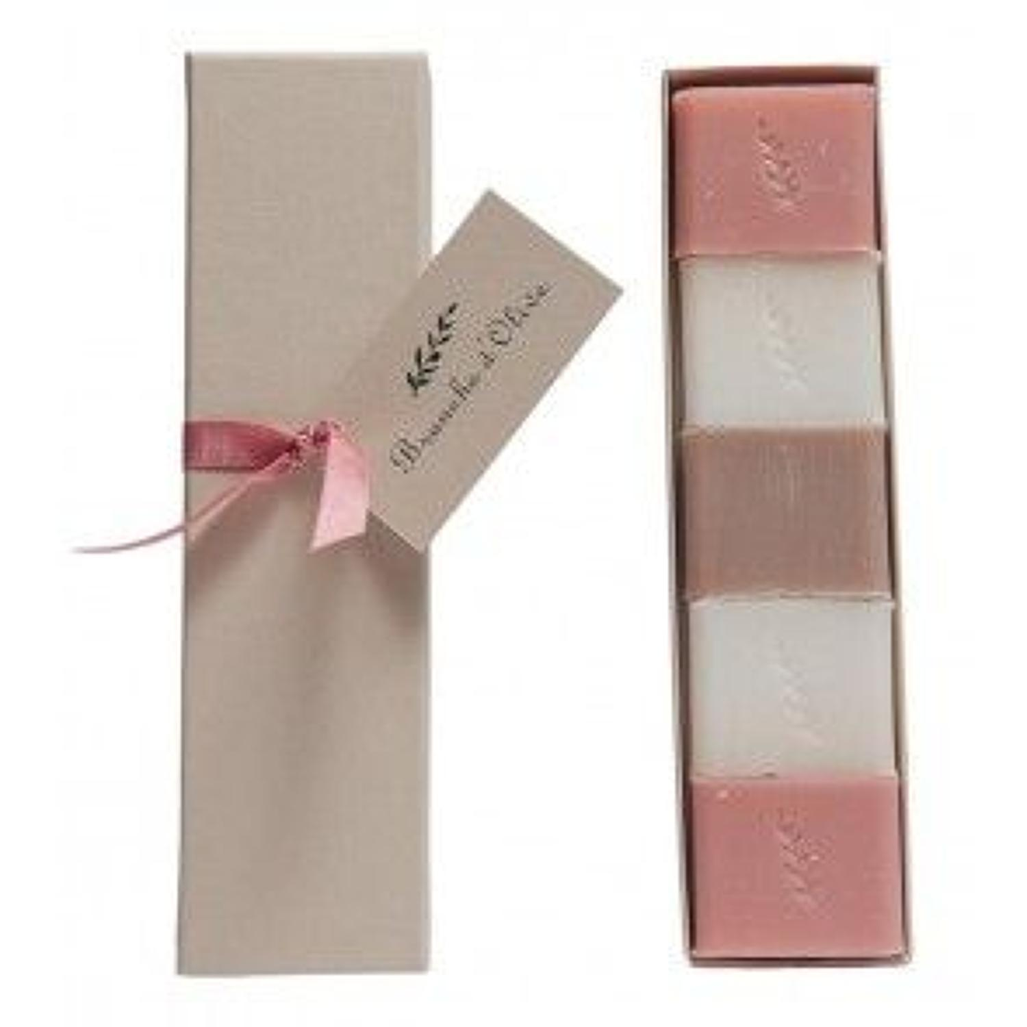 Branche de olive - Boxed guest soap - Rose