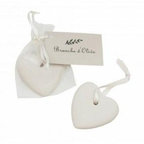 Branche de olive - Scented ceramic heart - Garrigue