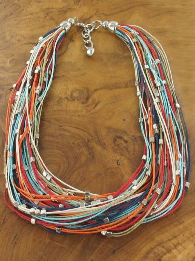 SB - Short multi strand cotton necklace