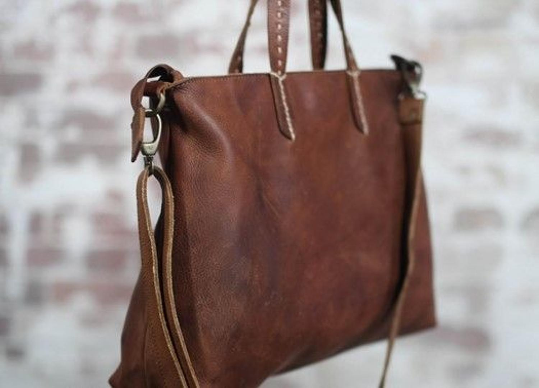 Nkuku - Koko leather shopper - Dark tanned