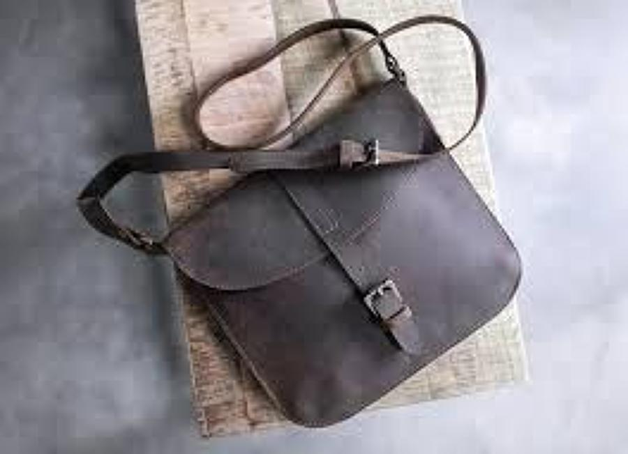 Nkuku - Masambe leather bag - Rustic brown