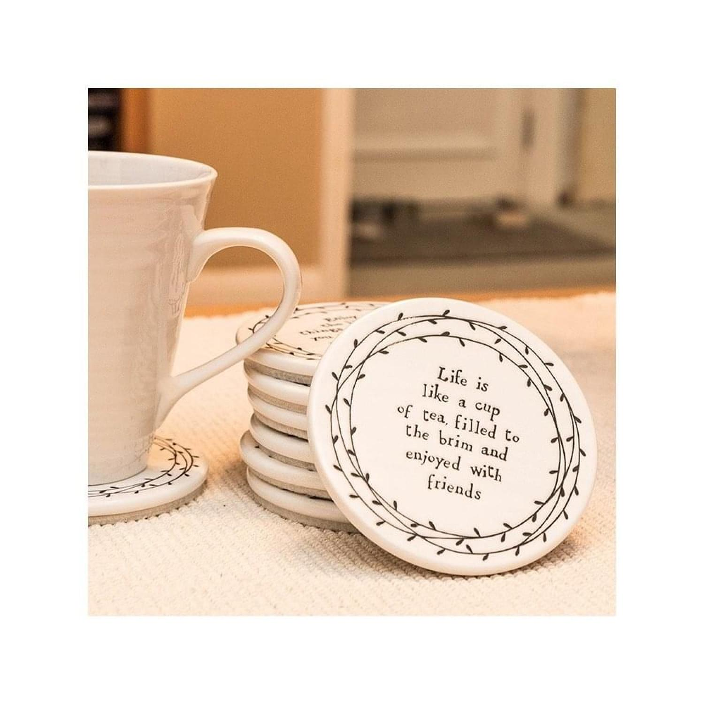 East of India - Leaf coaster - Life is like a cup of tea