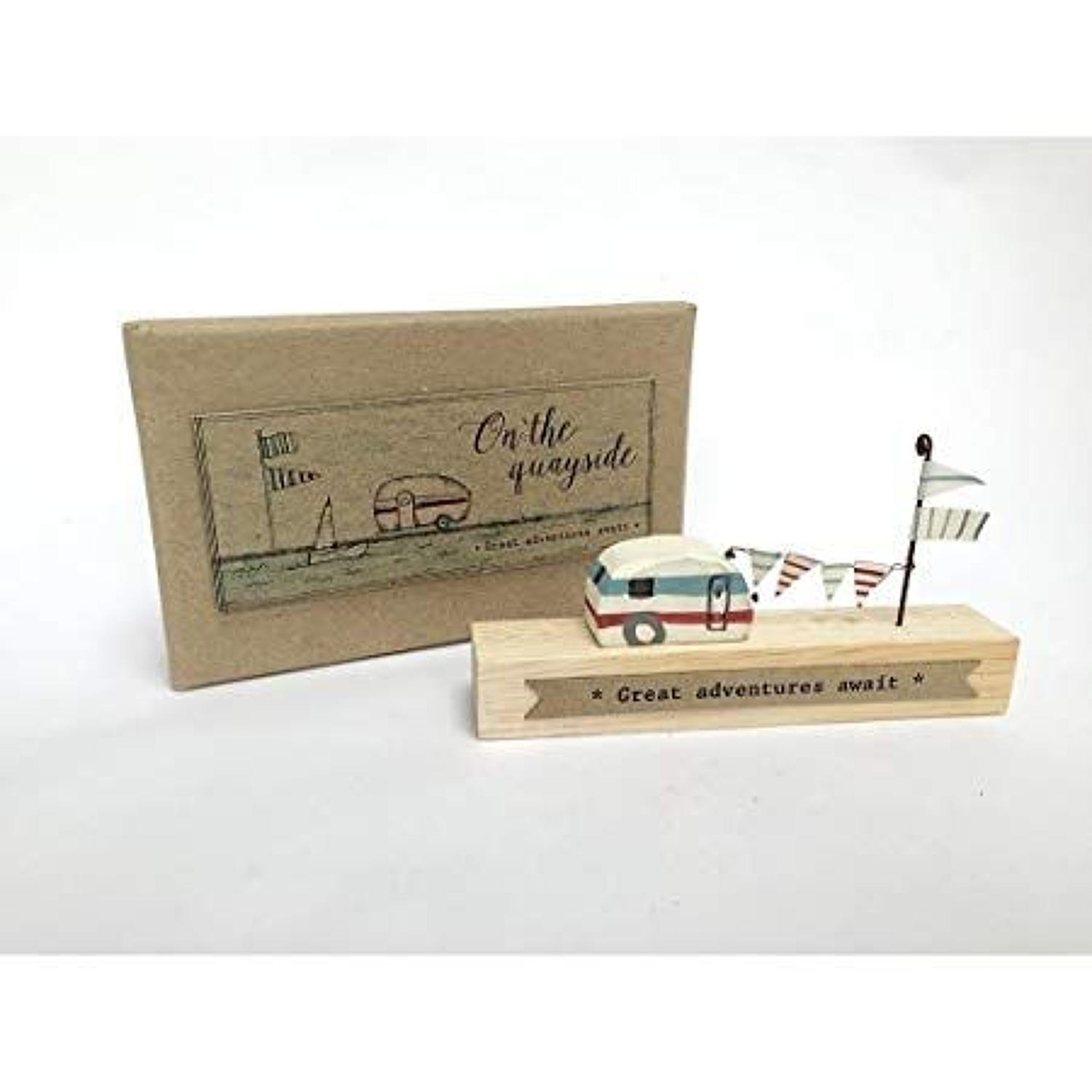 East of India - Wooden scene - On the Quayside