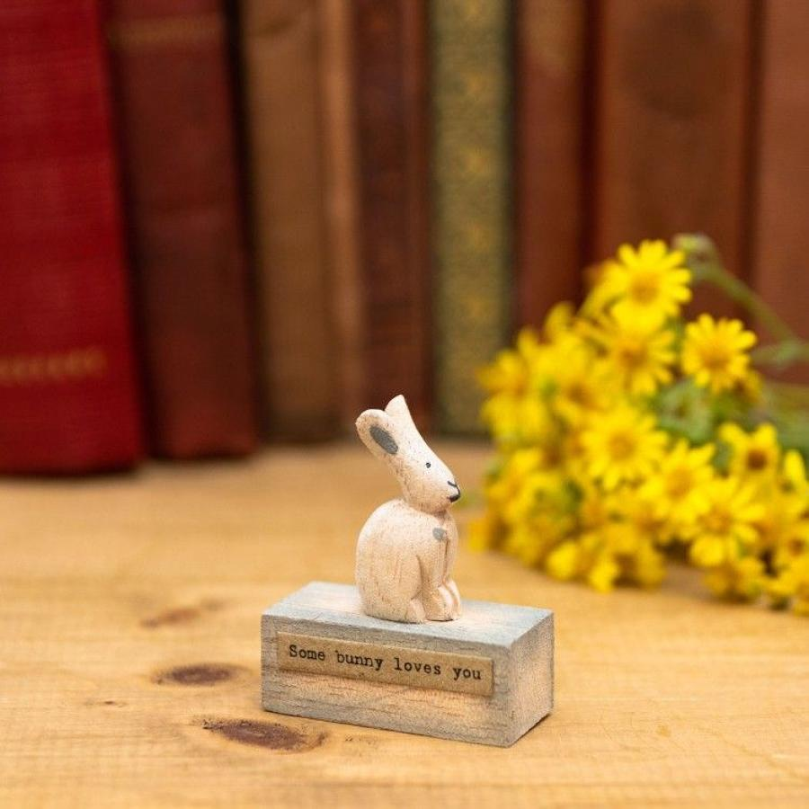 East of India - Wooden scene - Bunny - Some bunny loves you