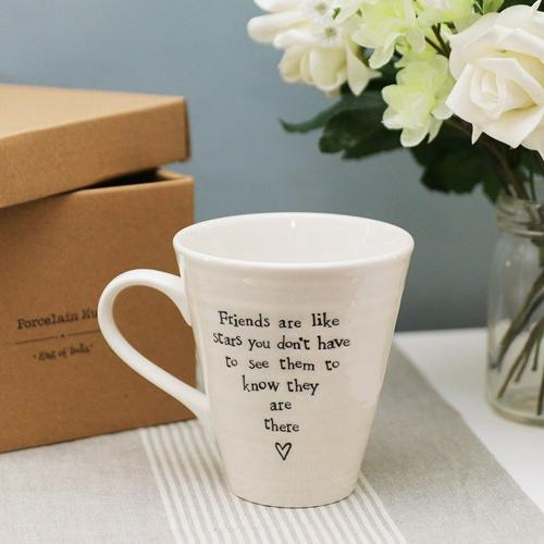 East of India - Porcelain mug - Friends are like stars