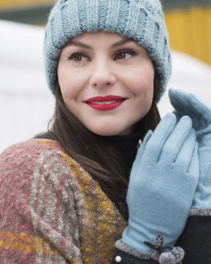 Powder - Betty wool gloves in Ice - One size