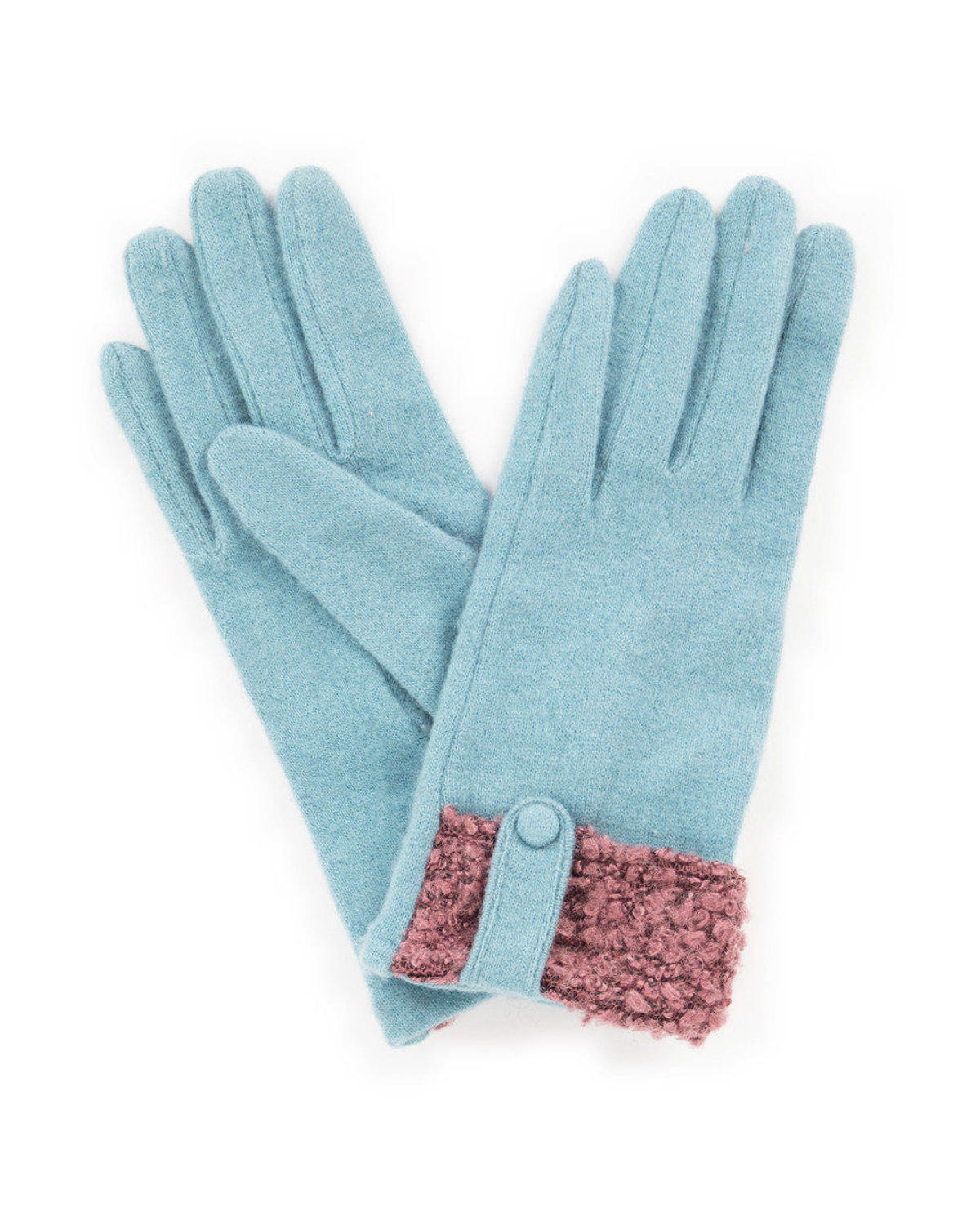Powder - Monica wool gloves in Ice - One size