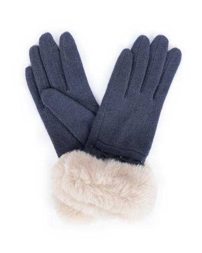 Powder - Tamara wool gloves in Charcoal - One size