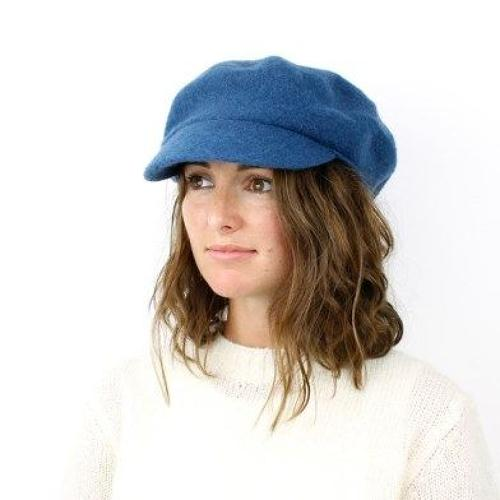 POM - Rich blue wool Baker boy hat - One size