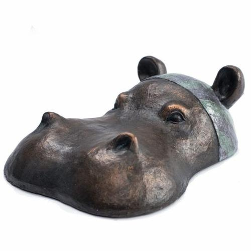 Hippo head - Small - Hand painted