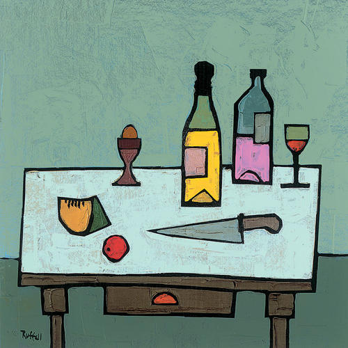 Colin Ruffell - Table top with egg - Canvas print
