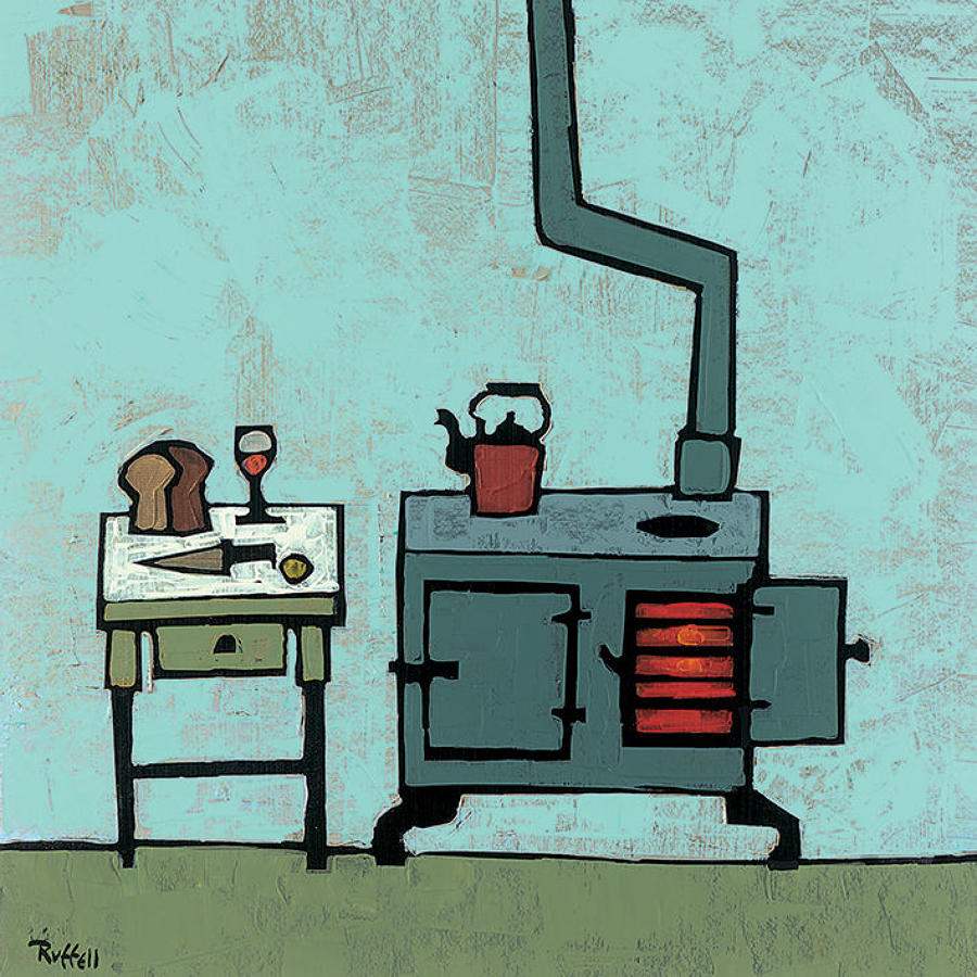 Colin Ruffell - Kitchen stove - Canvas print
