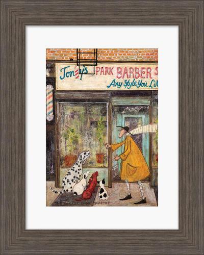Sam Toft - Framed print - The barber shop quartet