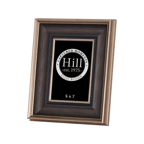 Antique gold with black detail photo frame  5 x 7