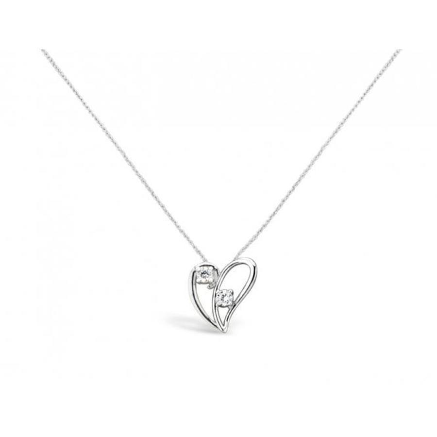 Lovely rhodium plated heart necklace