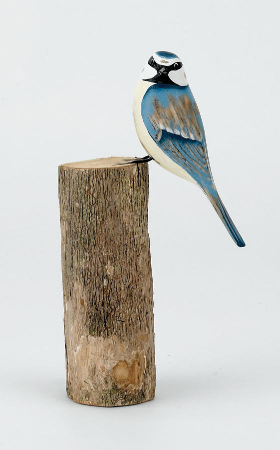 Blue Tit - Hand carved and painted