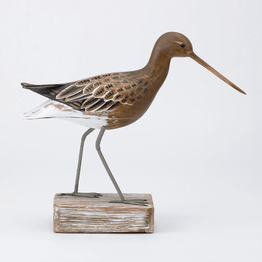 Godwit - Hand carved and painted