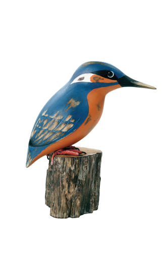 Kingfisher - Hand carved and painted