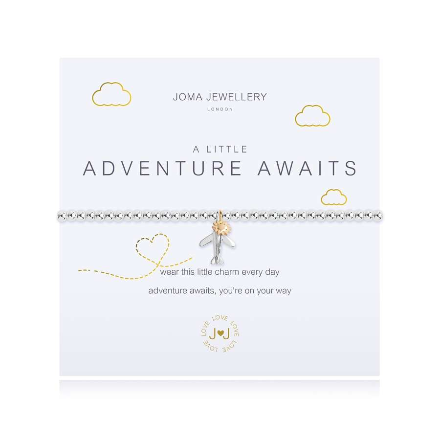 Joma Jewellery - A little - Adventure awaits - silver plate bracelet