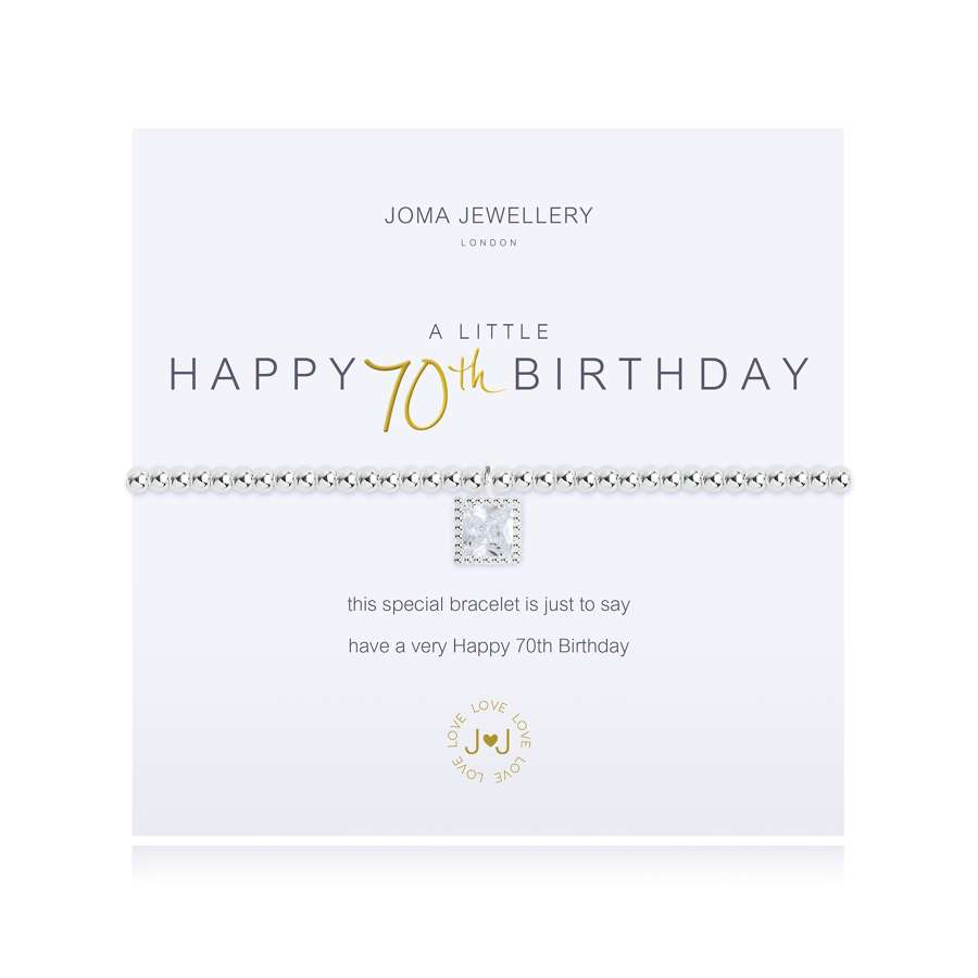 Joma Jewellery - A Little - Happy 70th birthday - bracelet