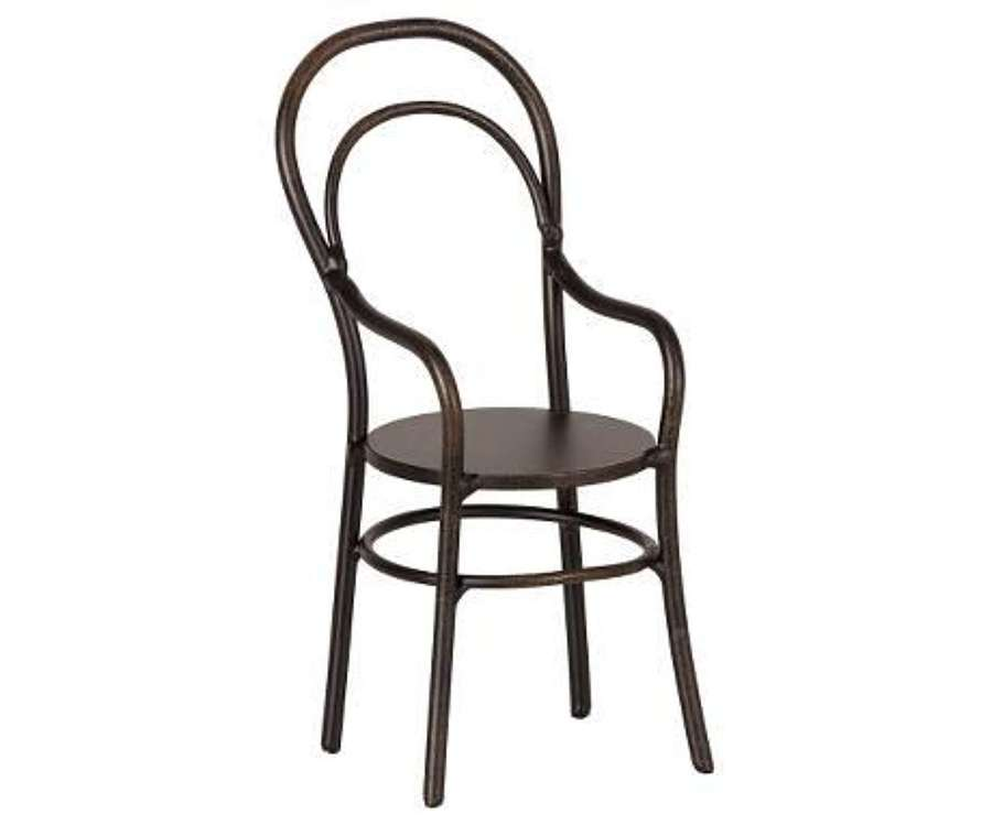 Maileg-micro chair - metal chair with arm rests