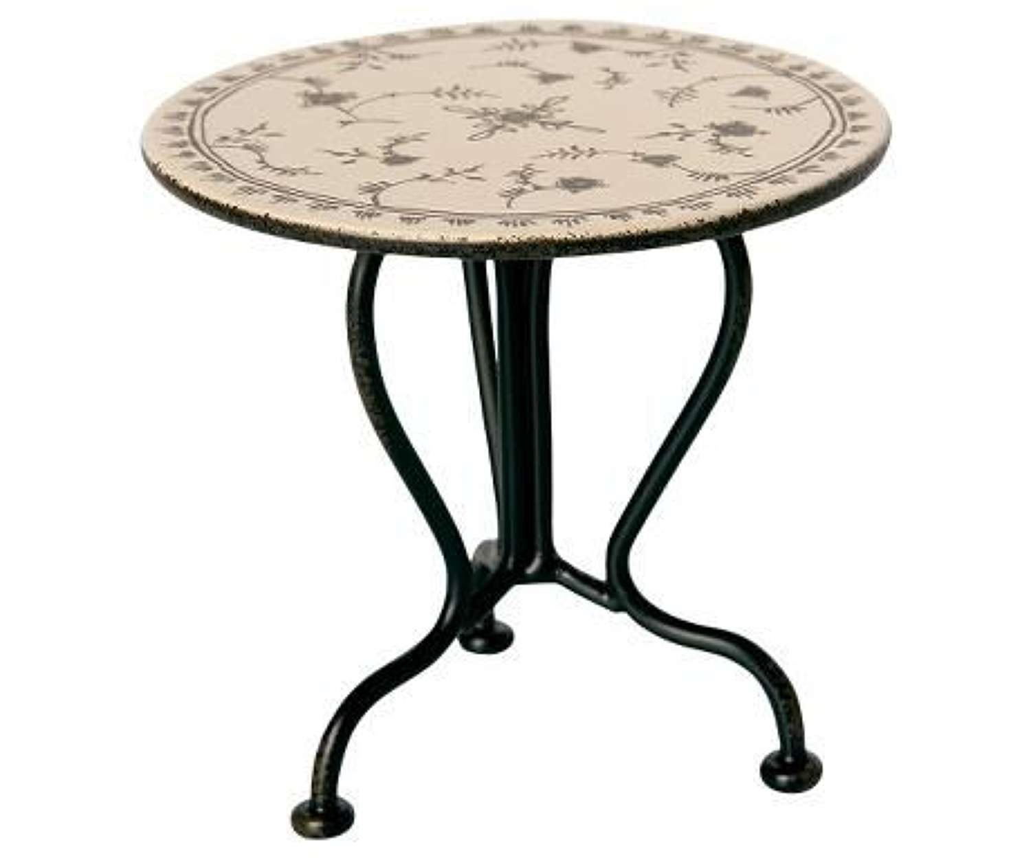 Maileg-vintage tea table-mirco table top with pretty floral pattern
