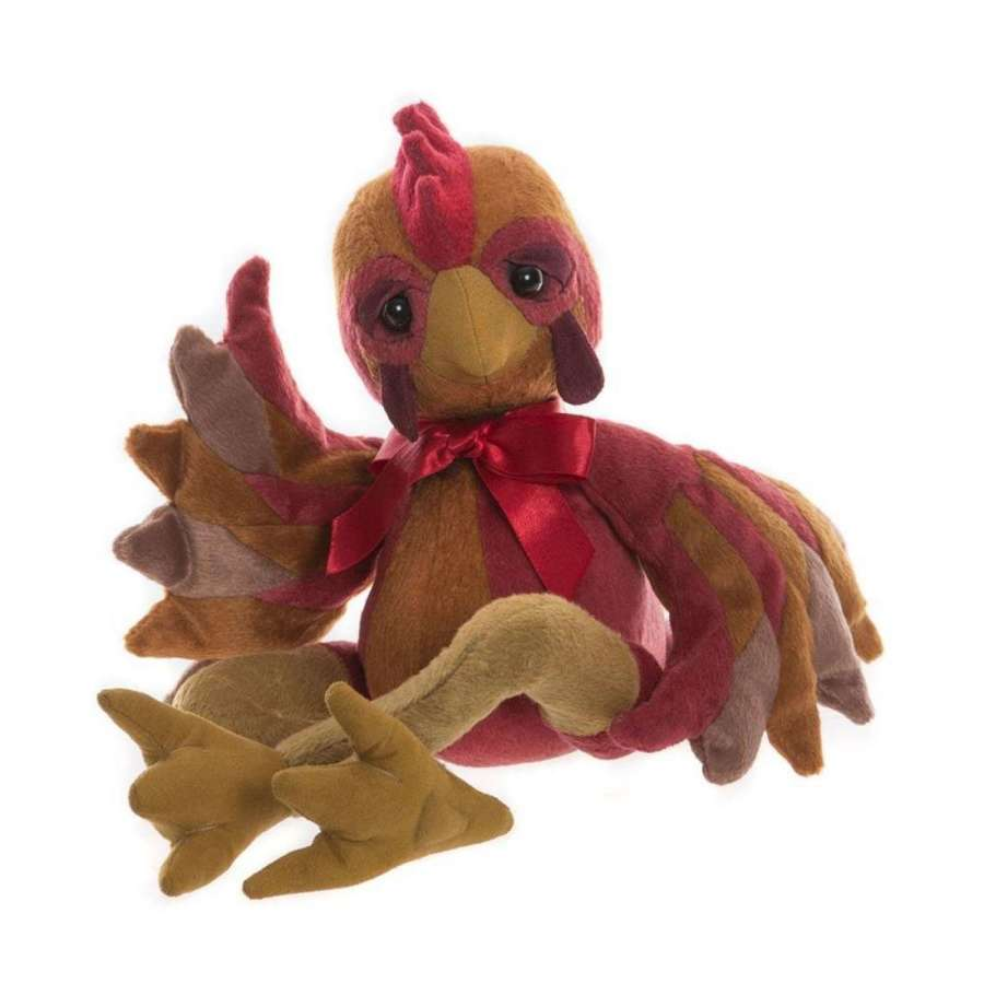 Charlie bear - Lil red(rooster )from the fable tale of fox & chicken