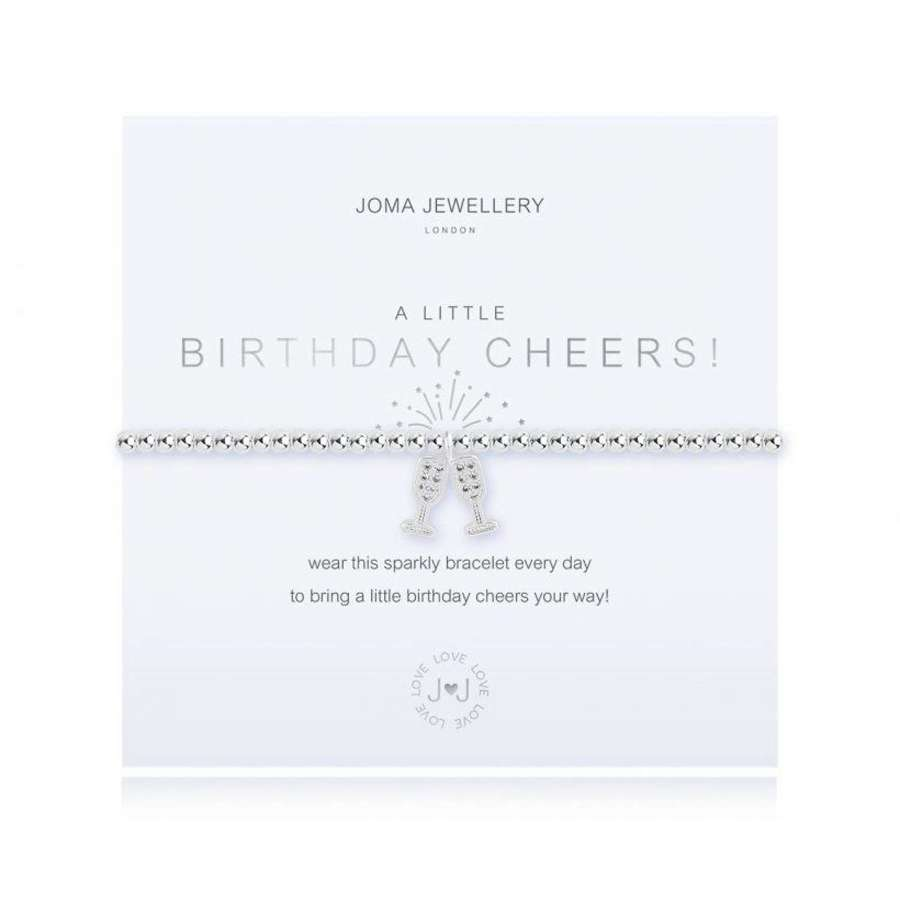 Joma Jewellery - A Little - Cheers - features 2 champage flute charm