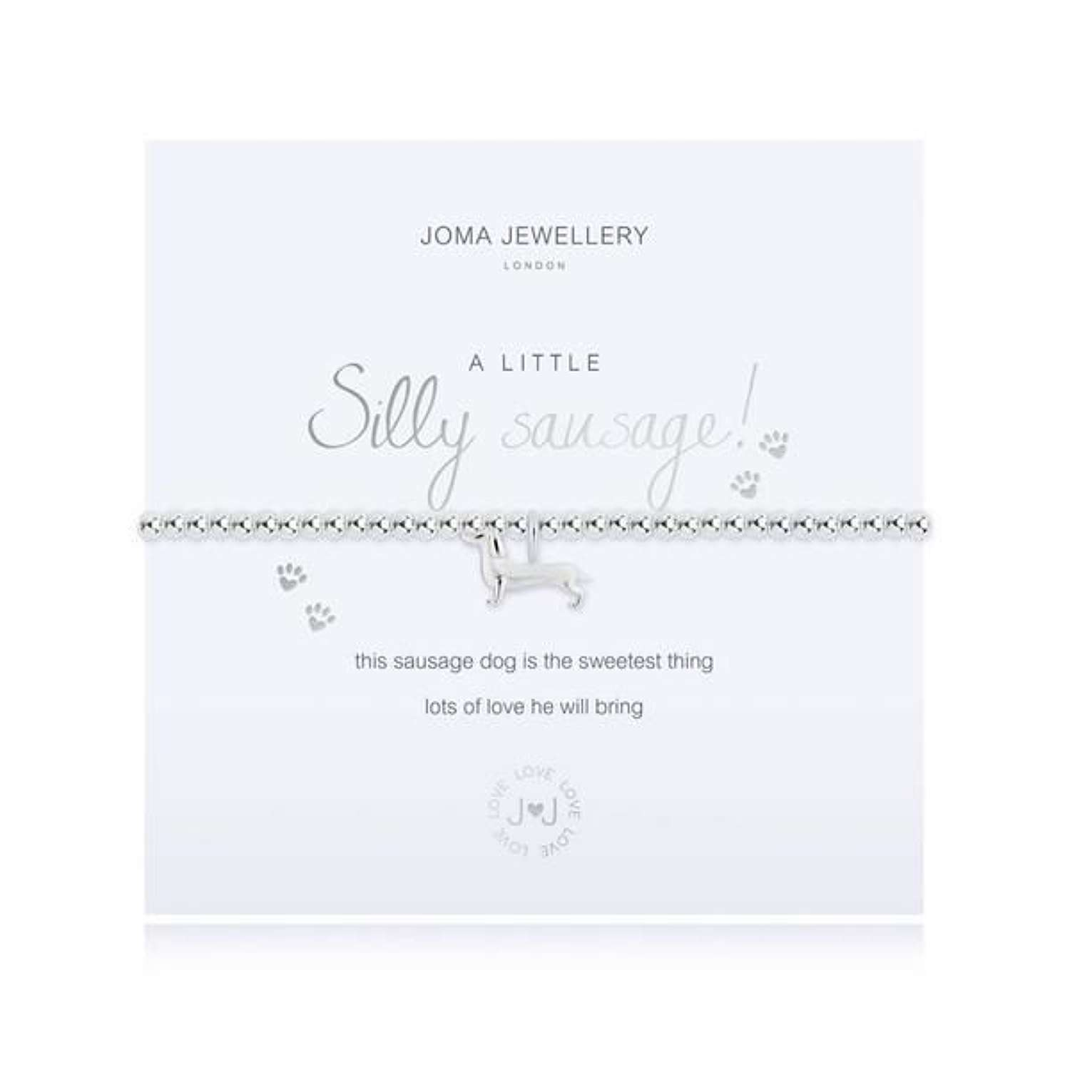 Joma Jewellery-A Little-Silly sausage-features a sausage dog charm