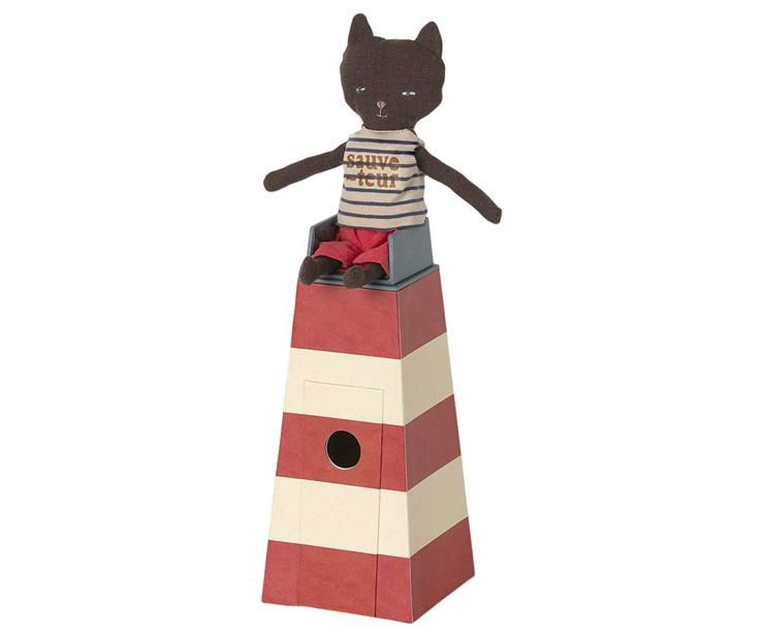 Maileg- Lifeguard tower with cat- tower can change into a lighthouse