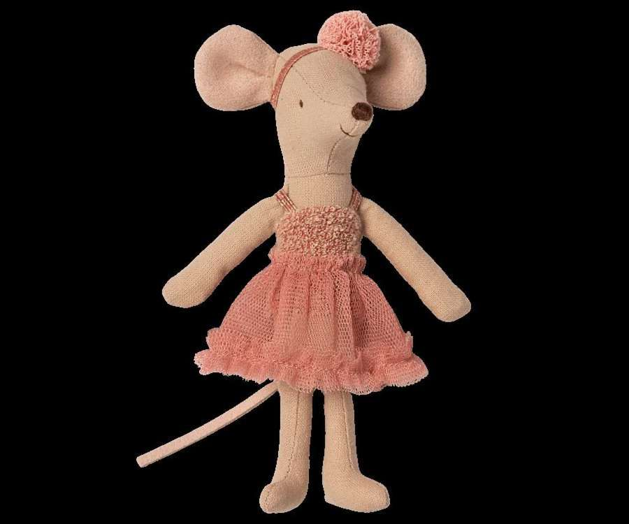 Maileg-Dance mouse Mira Belle-in ballet outfit & magnets in hands