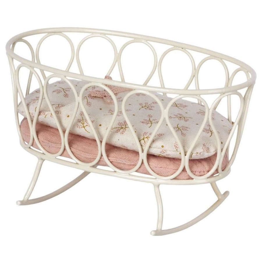 Maileg-metal cradle with sleep bag-for sleepy wakey, twins ,triplets