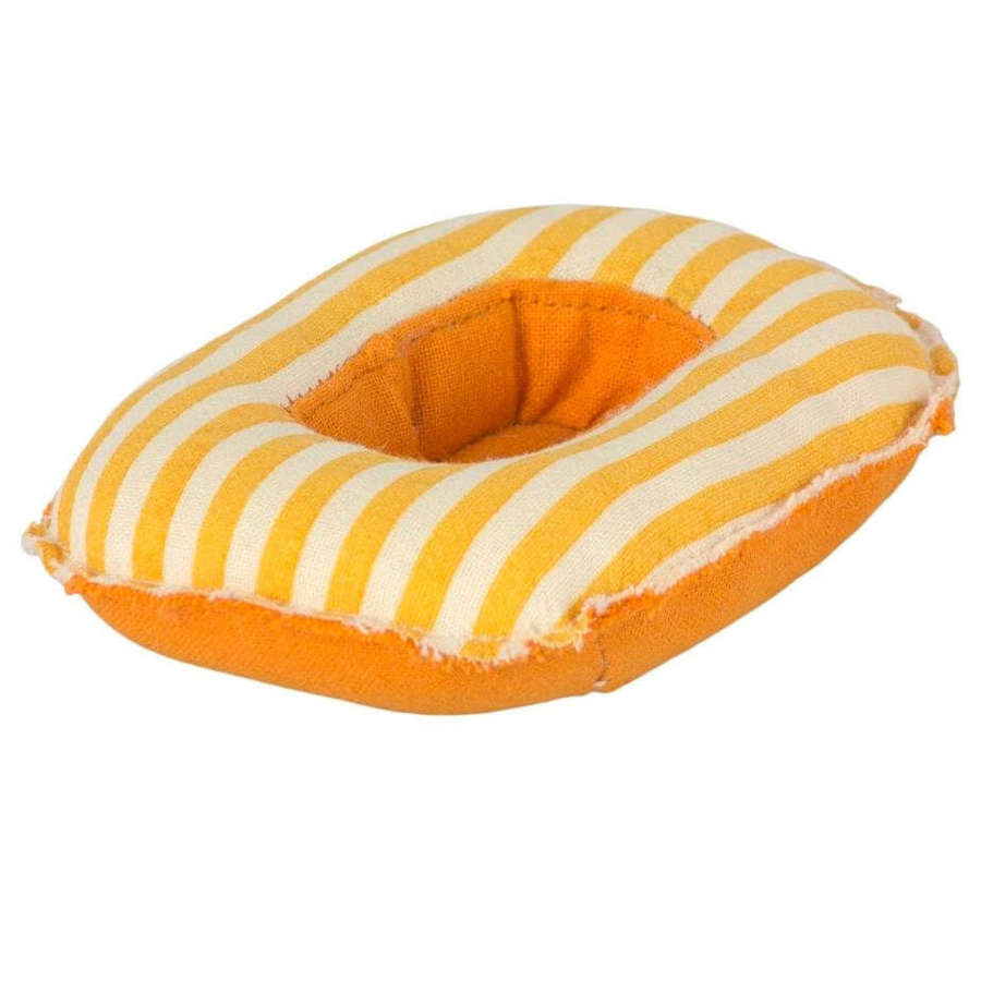 Maileg  Rubber boat -yellow stripe- use at the beach, not waterproof